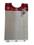 "Red & White Fleur De Lis ""Cajun"" Key of Z Washboard"