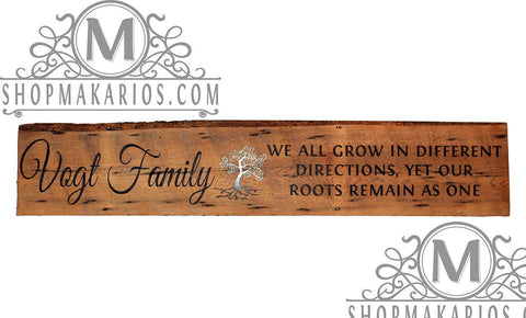 Family Roots Remain As One Custom Sign