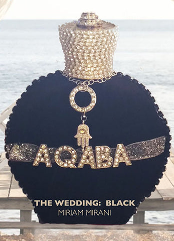 AQABA WEDDING: BLACK - FREE WORLDWIDE SHIPPING - by special order only