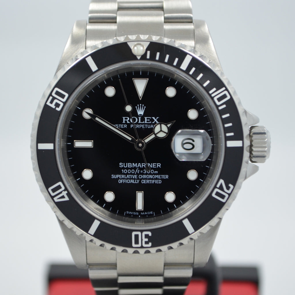"Rolex Submariner 16610 ""D"" Serial Stainless Steel Date Automatic Watch"