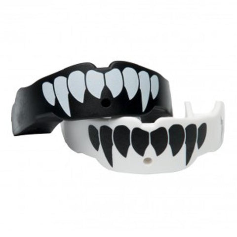 Battle Science MOUTHGUARD ADULT TWO PACK FANG BLACK & WHITE