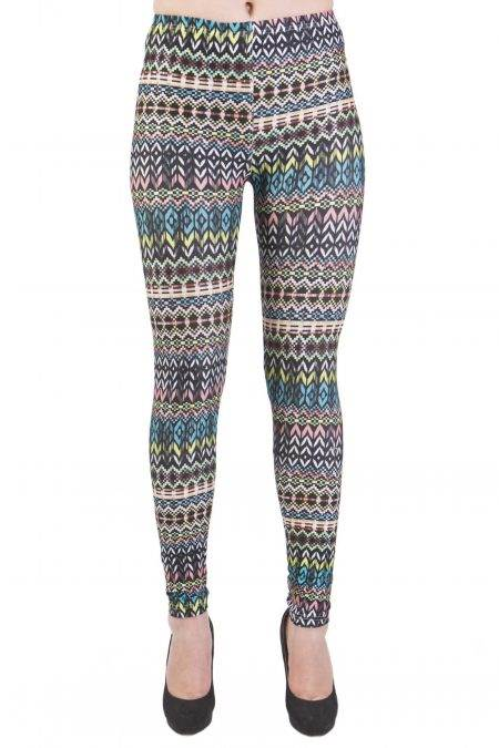 Ankle Length Tribal Microfiber Leggings - Home Goods Galore