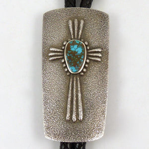 Cast Bola Tie with Turquoise - Jewelry - Darryl Begay - 1