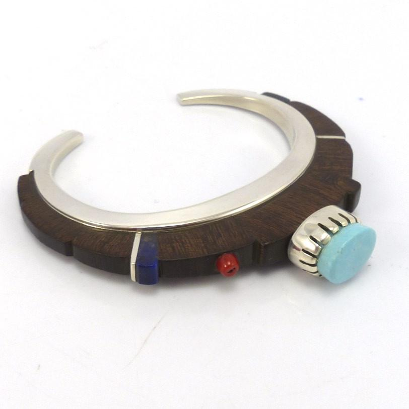 Ironwood Cobble Inlay Bracelet - Jewelry - Sherian Honhongva - 1