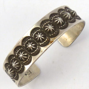 Stamped Silver Cuff, Edison Smith, Jewelry, Garland's Indian Jewelry