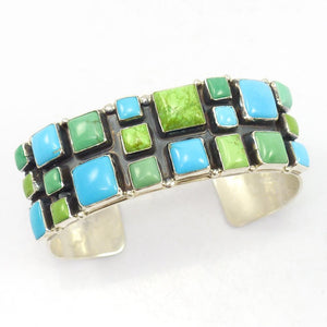Turquoise and Gaspeite Cuff