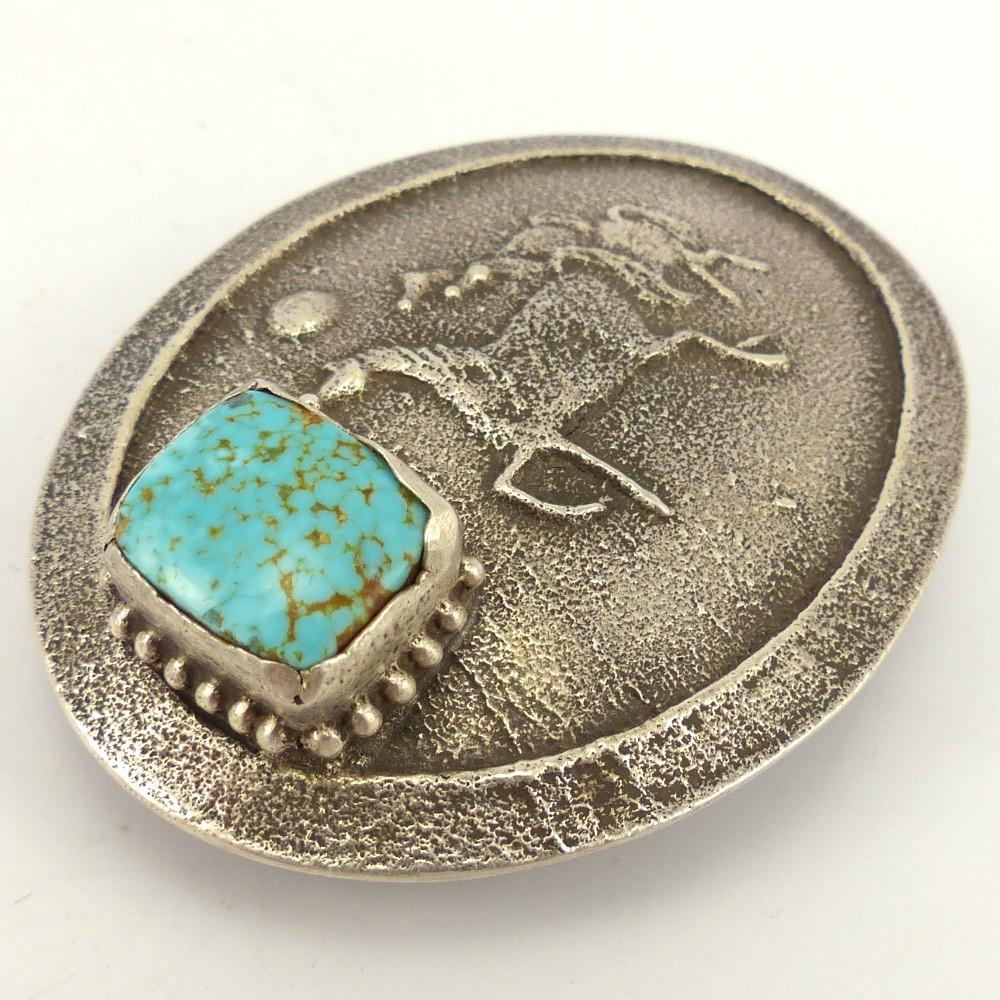 Number Eight Turquoise Horse Buckle, Anthony Lovato, Jewelry, Garland's Indian Jewelry