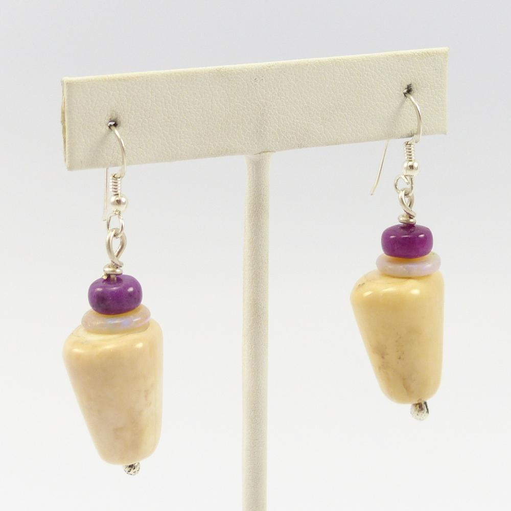 Fossilized Ivory Earrings
