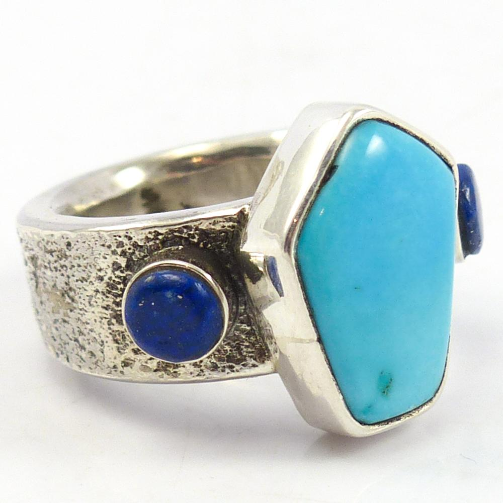 Turquoise and Lapis Ring