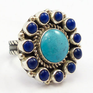 Lapis and Turquoise Ring