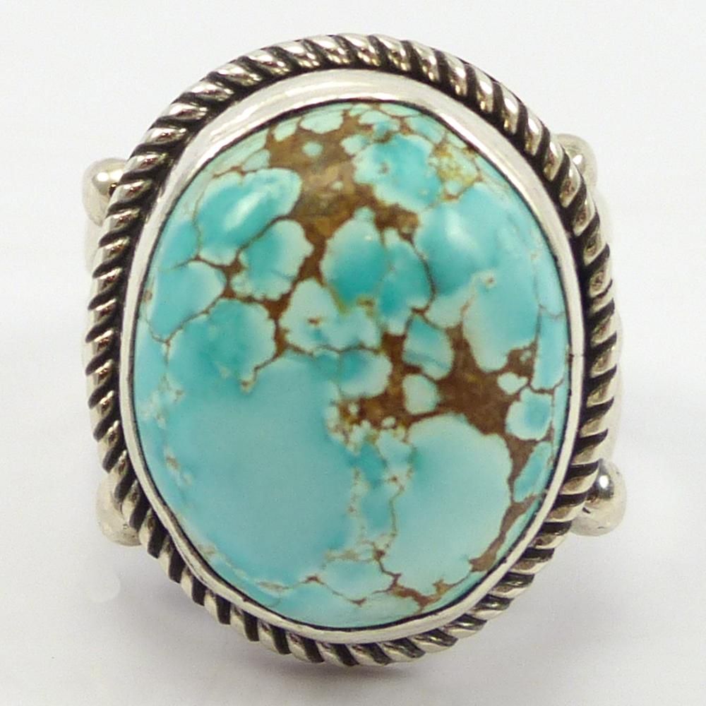 Number Eight Turquoise Ring