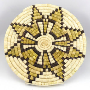 Hopi Sweet Corn Plaque, Joyce Ann Saufkie, Baskets, Garland's Indian Jewelry