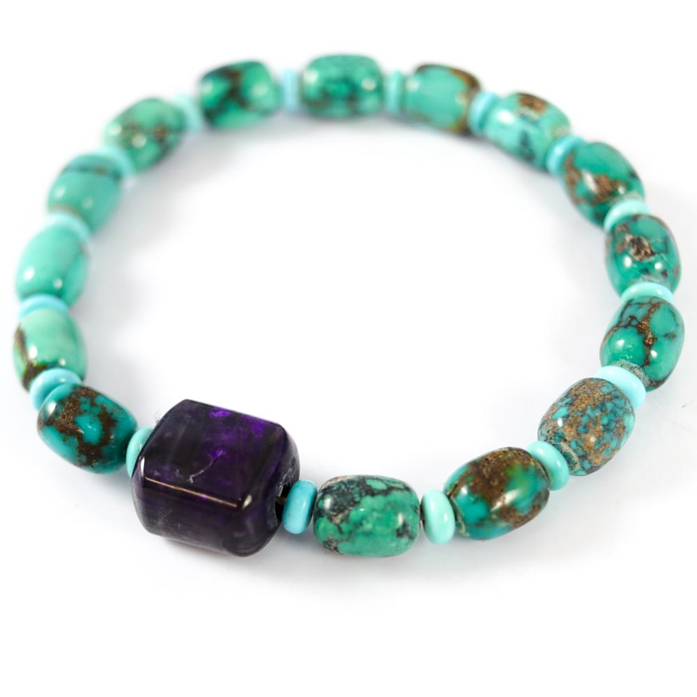 Turquoise and Sugilite Bracelet