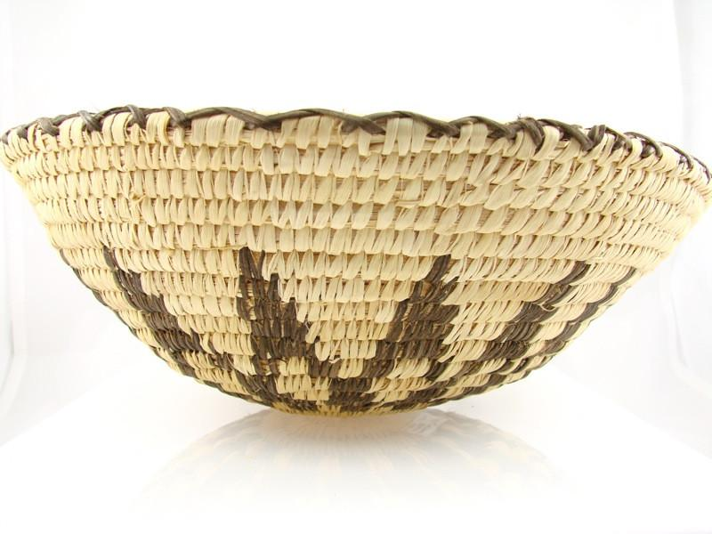 Historic Papago Sunflower Coil Basket - Baskets - Carmelita Lopez - 1