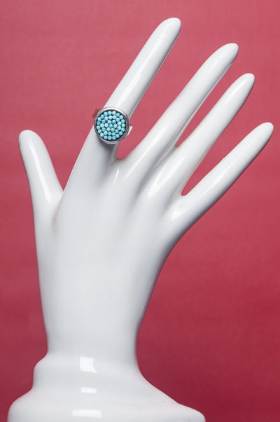 Faceted Turquoise Mosaic Ring