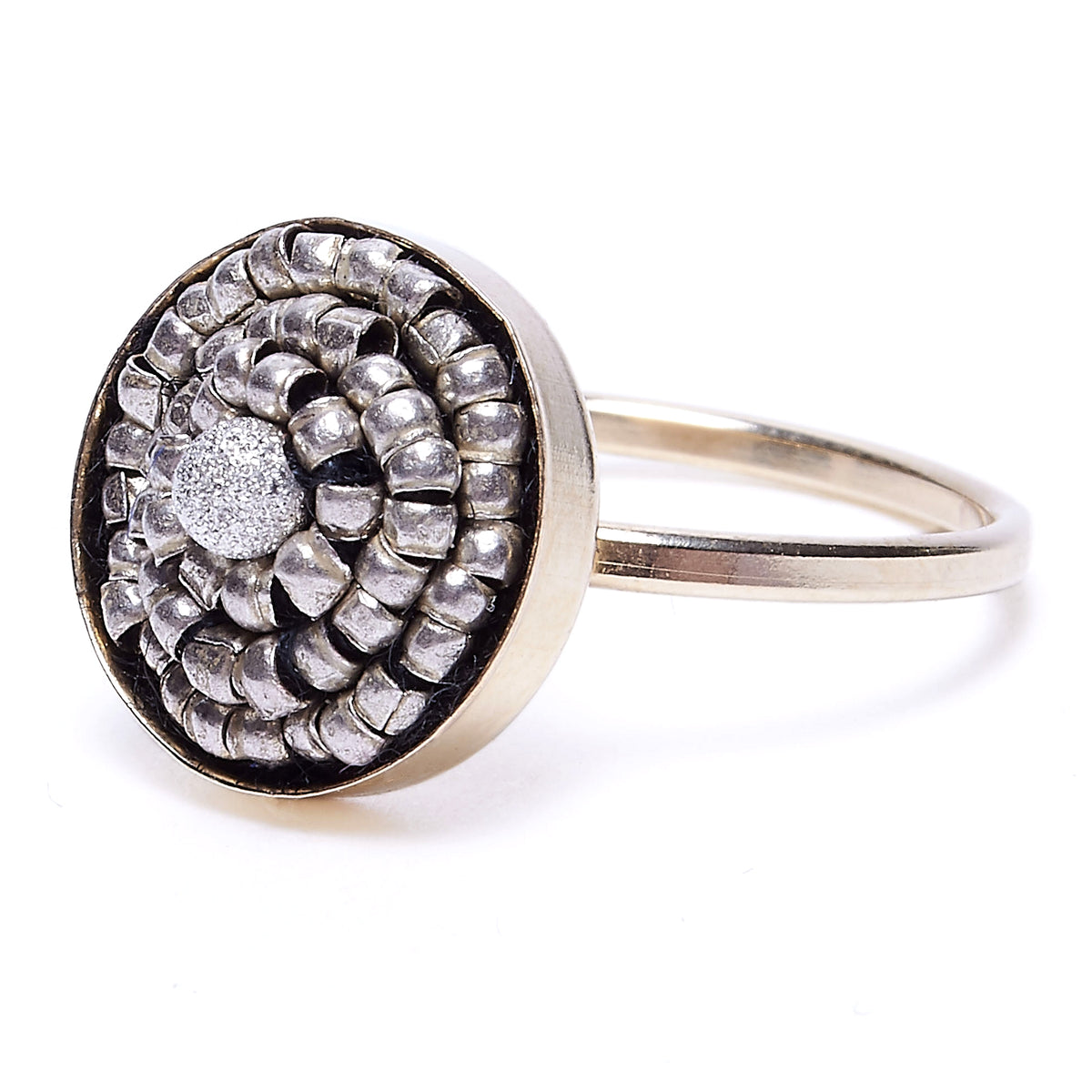Sterling Silver Metallic Mosaic Ring