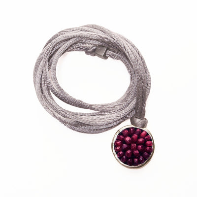 Iconic Ruby Mosaic wrap bracelet/necklace (fully adjustable)
