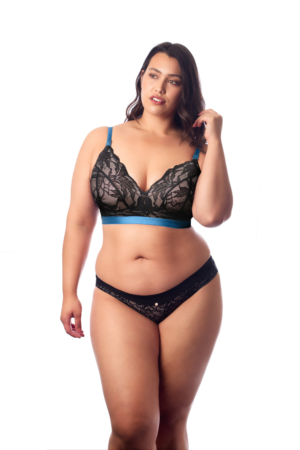 Allure Nursing bralette from Hotmilk with Temptation bikini brief