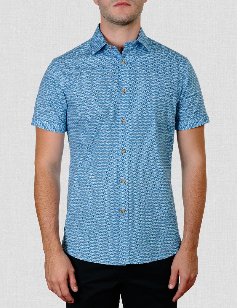Curtis Lobster Print Shirt (Short Sleeve)