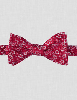 Red Floral Bow Tie