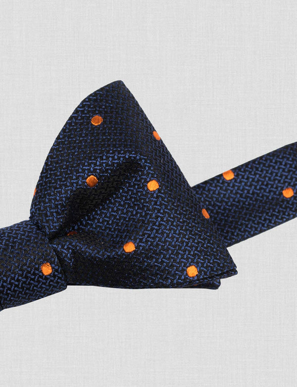 Orange Spot Bow Tie