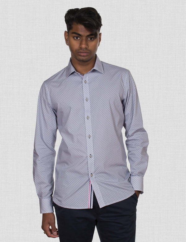 Atkins Navy Geometric Shirt