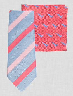 Stripe Tie & Pocket Square Set