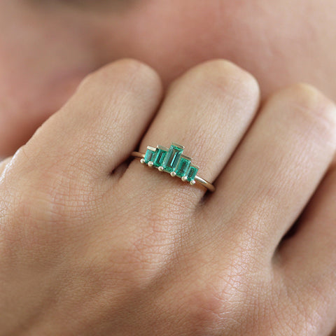 Art Deco Emerald Ring