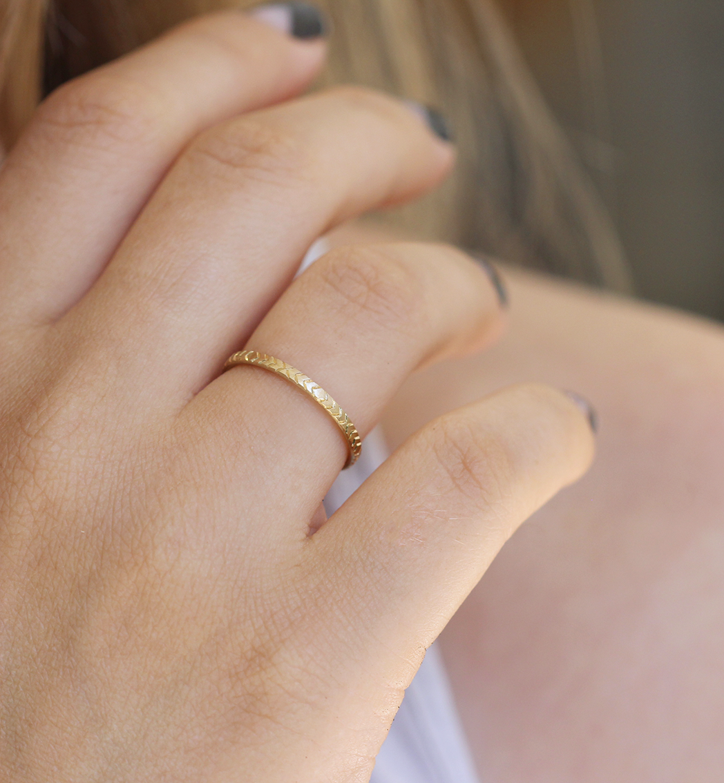 Delicate Wedding Band On Hand