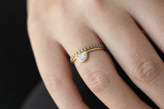 Bohemian Engagement ring on hand