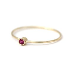 thin gold ruby ring