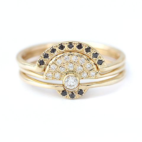 Diamond Engagement Ring With Diamonds Fan - Diamond Crown Ring