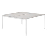 Urban R8 Lite 2 Person Back To Back Desk with White Bench Legs