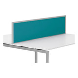 R8 Lite Aluminium Desk Screen with Acrylic Finish and Silver Trim