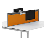 R8 Lite Aluminium Desk Screen + Tool Rail - Fabric Finish and Silver Trim