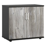 Platinum Oak KOMO Value Desk High Cupboard - Next Day