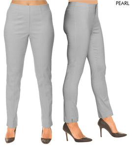 Lior Sasha Grey Pull Up Stretch Pant - Pearl
