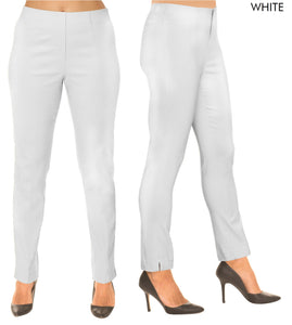 Lior Sasha White Pull Up Stretch Pant
