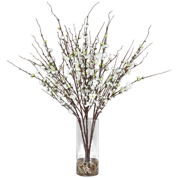 Uttermost Quince Blossoms Silk Centerpiece