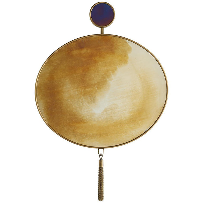 Arteriors Moon Glow Mirror - Antique Brass