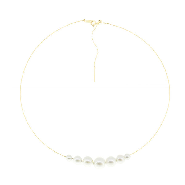 18K Pearl Choker Necklace
