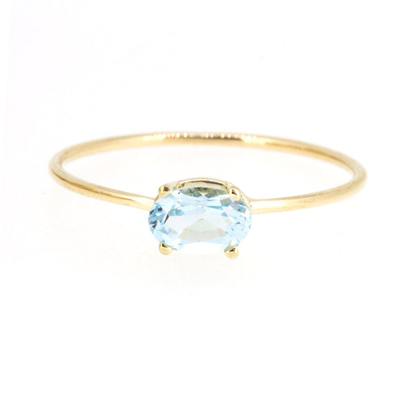 Oval Baby Blue Topaz Ring