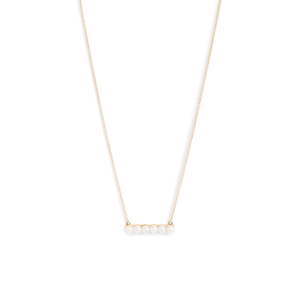Baby Pearl Bar Necklace