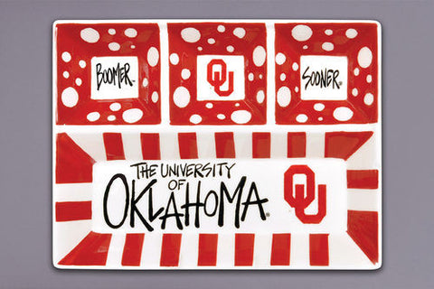 University of Oklahoma 4 Section Platter