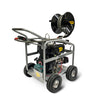 diesel engine pressure washer blaster with hose reel