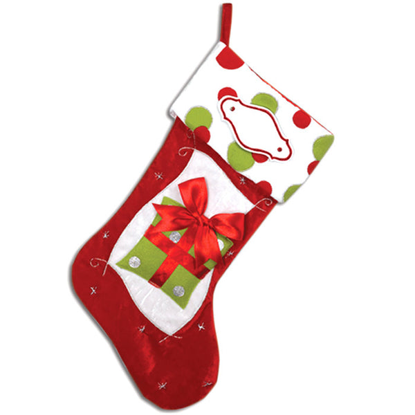 PBS105 RG - Red and Green Personalized Christmas Stocking