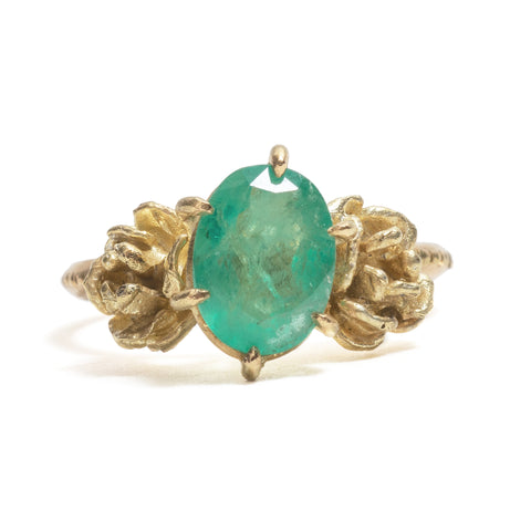 Emerald & Roses Ring by Nina Oikawa