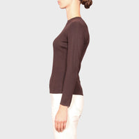 SLOAN KNIT TOP / CHOCOLATE