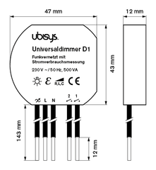 Control dimming with in-wall Ubisys Dimmer D1