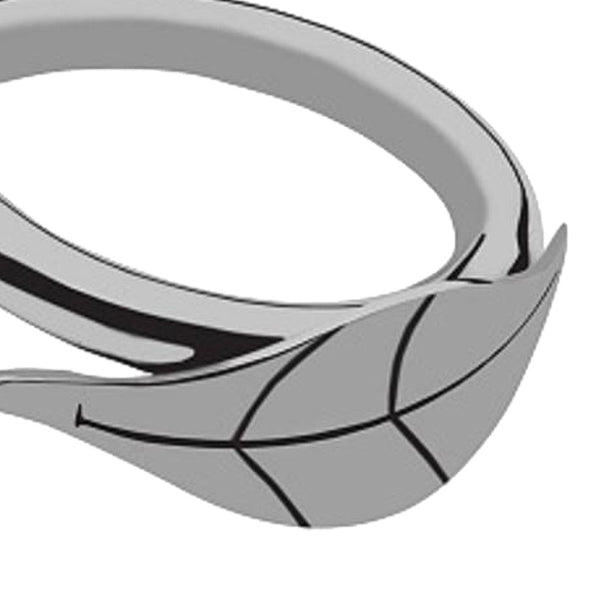 Willow Leaf Stainless Steel Napkin Ring